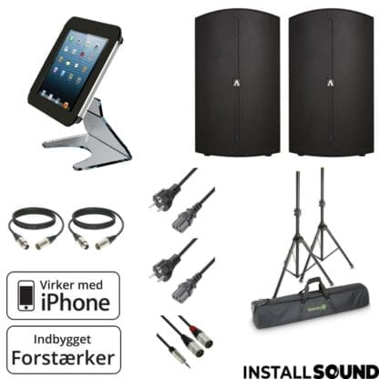 """Højtaler 15"""" fra American DJ - Avante 15A med taske - og Apple iPad jukeboks stander"""