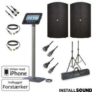 """Højtaler på 15"""" fra American DJ - Avante 15A med taske - og Apple iPad stander"""