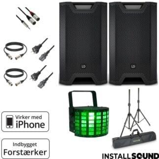 Højtaler pakke - til 50 gæster - LD system ICOA 12 AmericanDJ minidekker