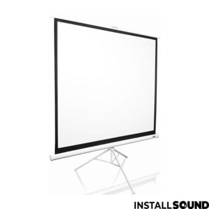 Projektor lærred på 3 ben - mål 200 x 150 cm ratio 1:1 - Fra InstallSound.dk