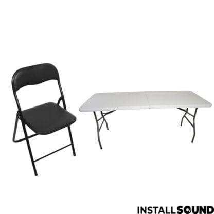 Foldebord og klap stol til festen