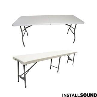 Klapbord og foldebord inkl foldebænk